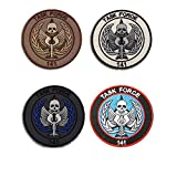 Call of Duty Modern Warfare Task Force 141 Logo Embroidered Patch by Ewkft (E(Bundle 4 Pieces))