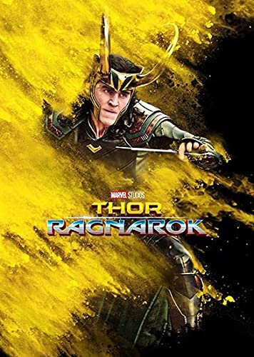 WQHLSH Marvel Loki Hulk Película Thor Ragnarok Canvas Pintura Arte de la Pared Nordic Pósters e Impresiones Fondos de Pared for la decoración de la Sala de Estar 20x28inchx1 Sin Marco