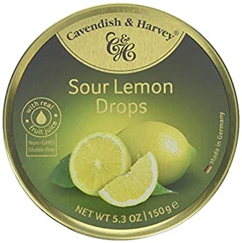 Cavendish And Harvey Candy  3 Pack  Fruit Hard Candy Tin 5.3 Ounces Imported German Candy  Sour Lemon Drops
