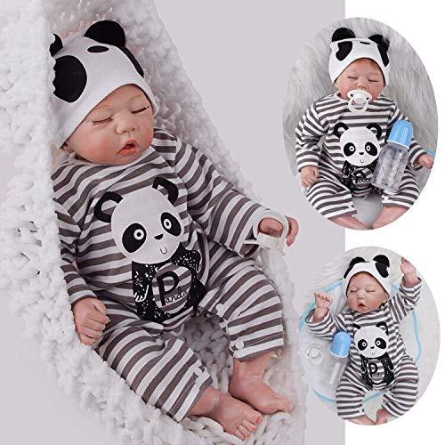 ZIYIUI 20 Pulgadas 50 cm Durmiendo Reborn Baby Doll Bebé Niño Vinilo Suave Silicona Realista Hecho a Mano Recién Nacido Regalo de Juguete