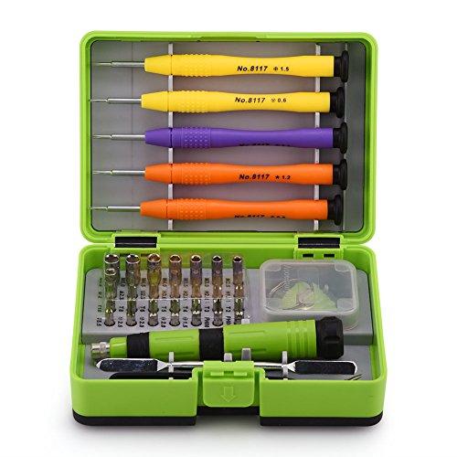 ASHATA 36-in-1 magnetische schroevendraaier reparatieset hoge precisie voor de reparatie van mobiele telefoon, tablet, horloge, glas, cd/dvd