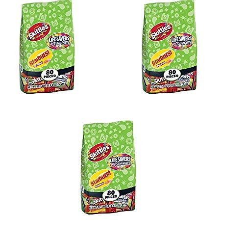 Skittles/Lifesavers/Starburst Candy Variety Pack, 80 count, 22.7 oz Wrigley