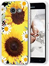 Yodueiv Phone Case for Galaxy J7 2017/J7 Prime/J7 Sky Pro/J7 Halo/J7 V/J7 Perx/Galaxy Halo Case, Soft Clear TPU Shockproof Protective Transparent Case Cover for Samsung Galaxy J7 2017 (Sunflower)