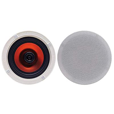Herdio 6.5 Inches 300 Watts Round Bluetooth Ceiling Speakers 2 Way Flush Mount Stereo Sound Bathroom Speaker For Bedroom Home Living Room from Herdio