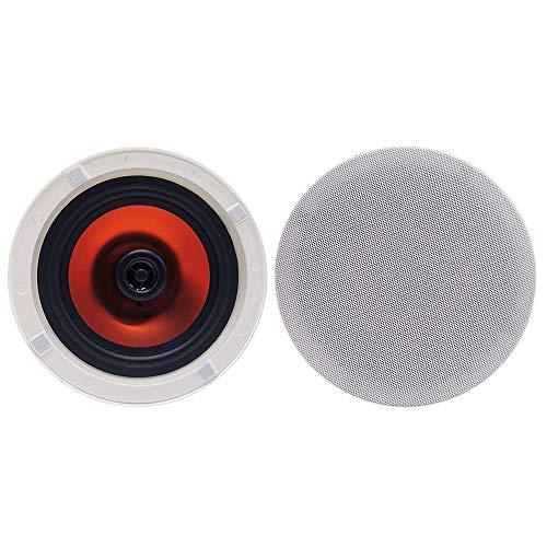 Herdio Altavoces de techo con Bluetooth redondos de 6,5 pulgadas, 300 vatios, 2 vías, montaje empotrado, sonido estéreo, para dormitorio, hogar, sala de estar