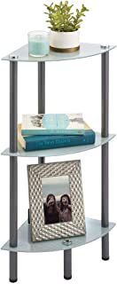mDesign Bathroom Shelves — 3-Tier Corner Bathroom Shelving Unit for Cosmetics, Towels and Personal Effects — Free-Standing...