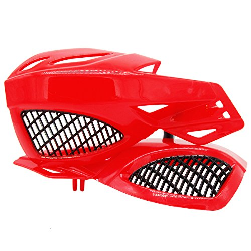 Lozom 7/8' Motorcycle Handguards Handlebar Hand Guards Brush Bar Protector For Motocross Supermoto Racing Dirt Bike ATV (Green)