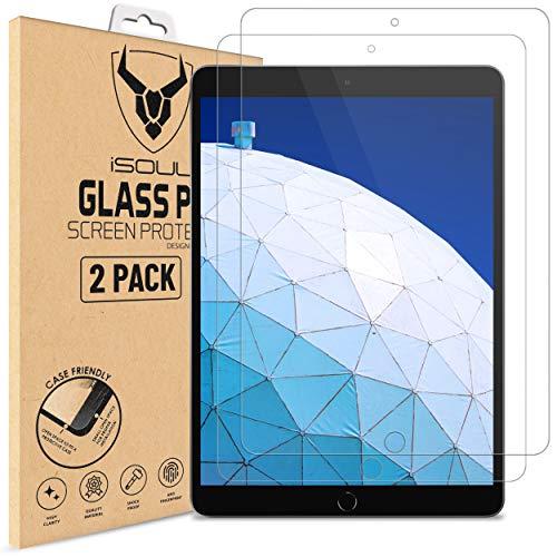 Displayschutzfolie Panzerglasfolie für iPad Pro, iPad Air 3 Panzerglas [2 Stück] iSOUL Schutzfolie für iPad Air 3 10.5 (2019) iPad Pro 10.5 (2017) Folie schutzfolie 9H HD (10,5 Zoll Modell)