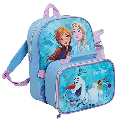 Girls Disney Frozen 2 Backpack Lunchbox Insulated Cooler Bag with Water...
