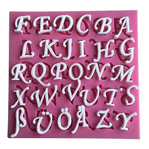 26 lettere inglesi in silicone 3D stampo da cucina bar da pranzo antiaderente decorazione torta fondente sapone stampo