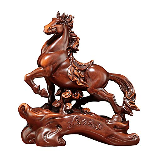 NYKK Artesanías decoración Adorno del Caballo del Zodiaco con la Resina de la Base Horse Modern Sculpture Decoración del hogar Mobiliario Dedicrafts Figura de Adorno (Size : Medium)