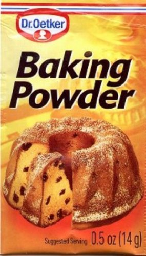 Dr Oetker Baking Powder, 0.5000-Ounce (Pack of 12)