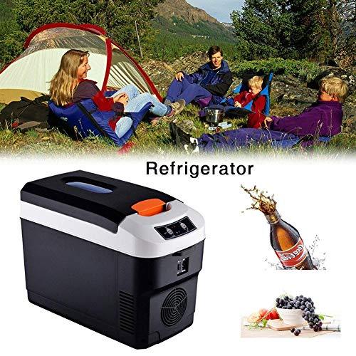 Luckyx 10L Elektrische Mini-Kühlschrank Für Bierkasten WarmhalteboxAuto Hot Cold Tragbare Elektrische Kühlbox Campingkühlschrank Outdoor Camping Kühlschrank Powered Cooler Essen Getränke Wein Reisen