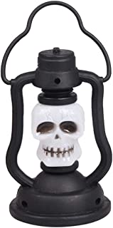LEDMOMO 2pcs Halloween LED Colored Night Light Skull Portable Kerosene Lamp Decorative Lantern Party Props