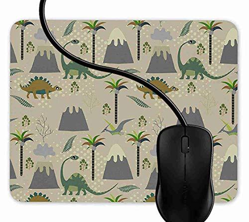 Preisvergleich Produktbild Mauspad Prähistorische Jura-Dinosaurier-Welt Rutschfeste Gummi Basis Mouse pad,  Gaming mauspad für Laptop,  Computer 1F2859