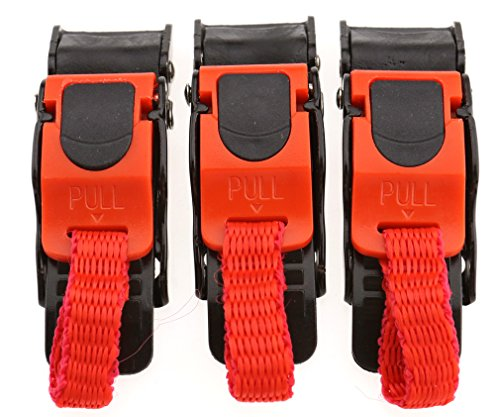 Motorcycle Plastic Helmet Quick Release Speed Clip Chin Strap Pull Buckle 3Pcs