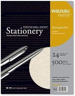 Wausau Paper Astroparche Parchement Paper - Letter - 8.5'' x 11'' - 24lb - Recycled - Parchment - 500 / Box - Natural