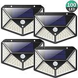 Luz Solar Exterior 100 LED, [2200mAh Ahorro de Energía...