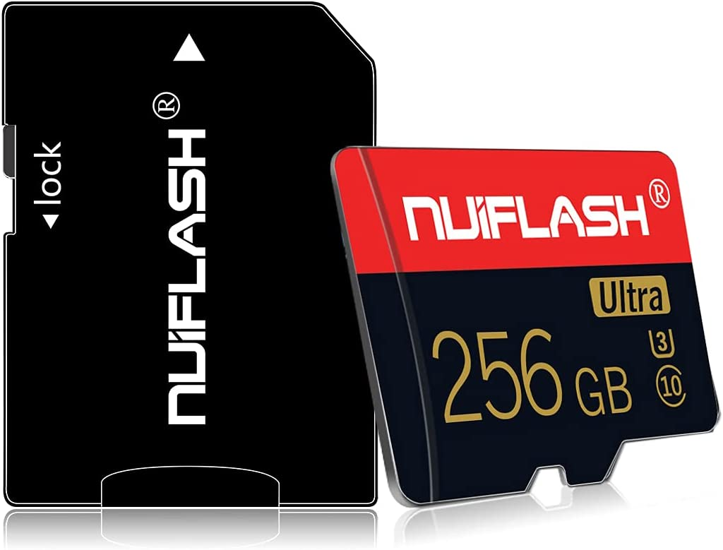 Micro SD Card 256GB Memory Card Class 10 TF Card T Flash Memory Card 256GB with a SD Card Adapter for Phone/Tablet/PC/Computer(256GB)
