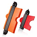 Contour Gauge Duplicator Outline Tool: 10 & 5 inch Widen Profile Shape Copy Tools with Lock 2 Pack Master Outline Measuring Plastic Ruler for Corners & Woodworking Templates & Tiles & Laminate