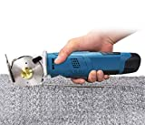 MXBAOHENG Electric Rotary Cutter Cordless Fabric Scissor Rechargeable Shears Round Knife Cutting Machine for Cloth/Paper/Carpet/Leather