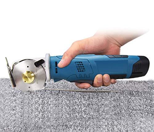 MXBAOHENG elektrische roterende snijder accu-stofschaar oplaadbare schaar ronde messen snijmachine voor stof, papier, tapijt, leer