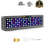 MarsAqua Dimmable 300W LED Aquarium Light 55 Gallon Coral Reef Light Full Spectrum for Fish Freshwater and Saltwater Coral Tank Blue and White LPS/SPS with Daisy Chain Multifunction