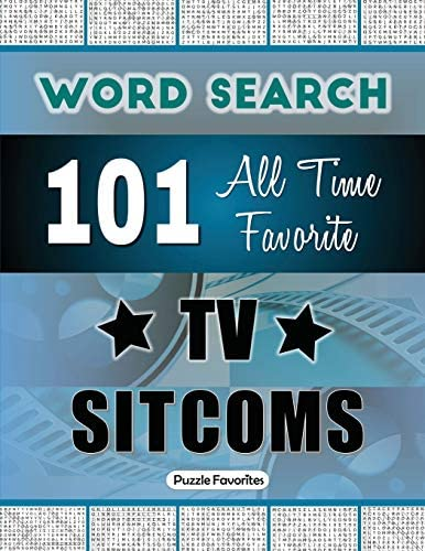 All Time Favorite TV Sitcoms Word Search Featuring 101 Word Find Puzzles product image