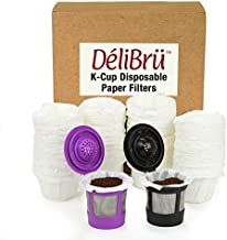 Paper Filters for Reusable K Cups Fits All Brands - Disposable K Cup Paper Filter (100/Box) by Delibru