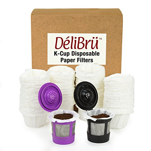 Paper Filters for Reusable Coffee Pods Fits All Brands Compatible With All - 100% Compostable and Disposable Paper Filter