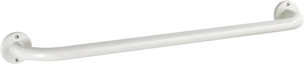 Wenko 18575100 badhanddoekstang Basic M - handvat, wandgreep, douchegreep, roestvrij staal, 66 x 6 x 9,5 cm, wit