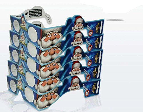 3D Christmas Glasses - 5 Pack - Turn Holiday Lights Into Magical Images. See Santa for A Fun Christmas Experience. Our USA Made Holiday Specs are Perfect for Festivities!