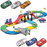 Liberty Imports My First Speed Racing Assembly Playset - Includes 6 Diecast Cars