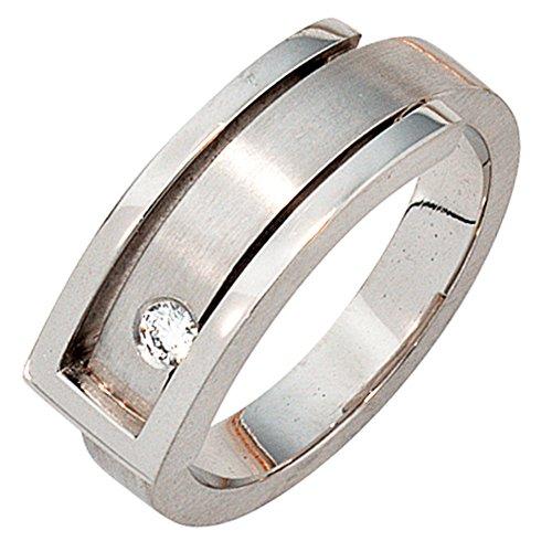 JOBO Damen-Ring aus 950 Platin mit Diamant Größe 56