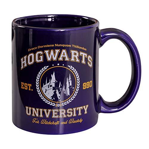 Taza de la Universidad Mágica para los fanáticos de Harry Potter 320ml Elven Forest Ceramic Blue