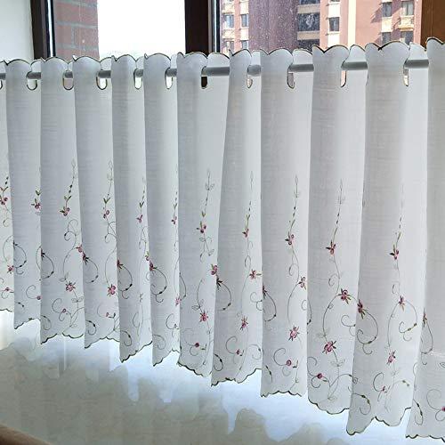 Cafe Curtains Tende a Vela e da bistrot Tende Trasparenti per Salotto Ricamo Tenda Corta per Finestra Tenda da caffè