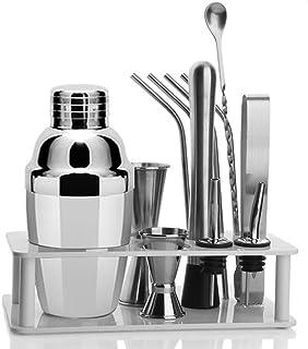 Bartending Making Kit,Bartender Shaker Set- 12 Pcs Set Professional Home Bartending with Stand Outdoor Parties DIY