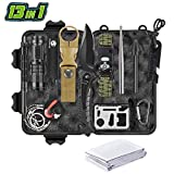 SnowCinda Gifts for Men Dad Husband, 13 in 1 Survival Gear Kit, Emergency EDC Survival Tools for Camping Fishing Hunting Hiking, Unique Birthday Gift Idea for Him Boyfriend Teen Boy