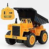 LJW 2.4G Control remoto inalámbrico Camión volquete 5 canales RC Ingeniería Vehículo 1/32 Simulación de escala Modelo de vehículo de construcción 360 ° Regalos de elevación giratoria para niños de 6 a