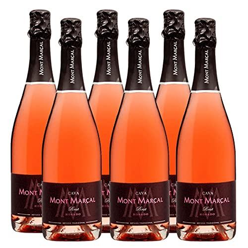 Cava Brut Rose Mont Marçal de 75 cl - D.O. Cava - Bardinet (Pack de 6 botellas)