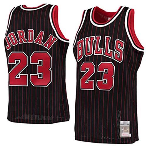 FRESHC Hombres # 23 Jordans Jersey Bulls Jerseys sin Mangas Camisa Deportiva de Malla de poliéster Retro S-XXL Blanco/Negro/Rojo black1-XL