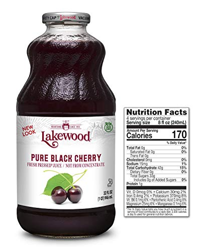 Lakewood Premium Pure Black Cherry, Fresh Pressed (32 Oz, 6 Pack)