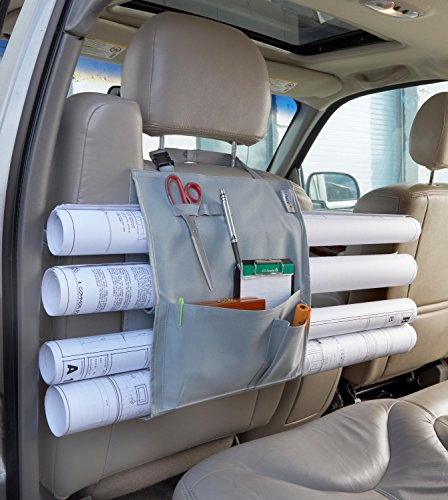 Adir Corp Plans Car Holder, Blueprints Car Holder, Maps Car Holder, Drawings Car Holder, Artwork Car Holder, Posters Car Holder, Document Car Holder, Car Organizer - with Pockets
