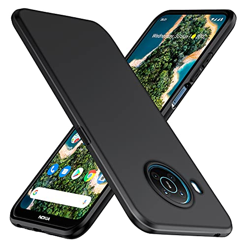 TesRank Cover per Nokia X10/X20 Cover, Custodia Sottile in TPU Morbido, Cover Protezione Anti Scivolo per Nokia X10/X20-Nera