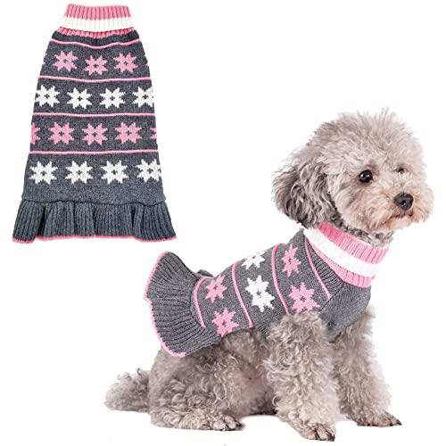 Dog Sweater Turtleneck Pullover Knit