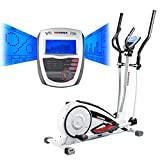 Hammer Crosstrainer Crosslife - Cardiotraining für Zuhause  -  LCD-Display - Push & Turn-Drehknopf...