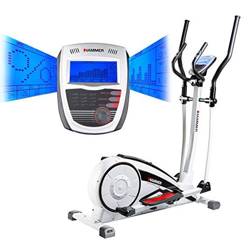 Hammer Crosstrainer Crosslife - Cardiotraining für Zuhause  -  LCD-Display - Push & Turn-Drehknopf - Elektronisches Magnetbremssystem - Heimtrainer - Ergometer - 18 kg Schwungmasse
