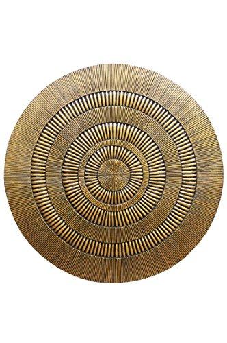 Orientalische Ornament Wanddeko aus Holz Bader 120cm gross XXL | Orientalisches Wandbild Wanpannel in Gold als Wanddekoration | Vintage Holzornamente als Dekoration im Schlafzimmer oder Wohnzimmer