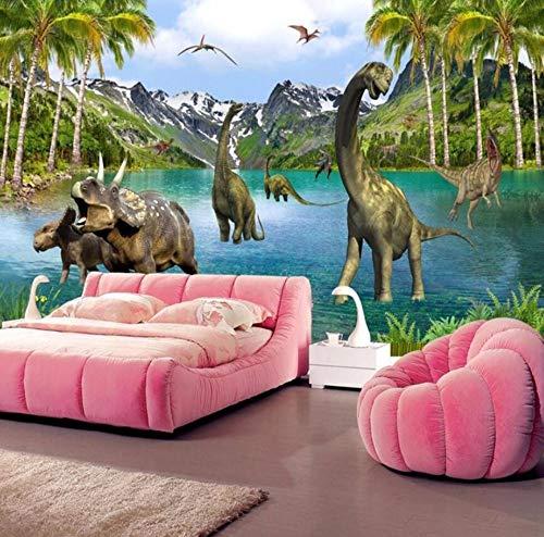 para paredes 3d Murales grandes Dinosaurios de la era jurásica Foto Papel...