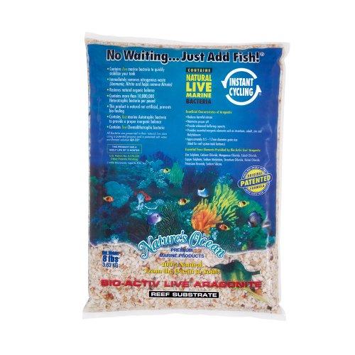 Nature's Ocean Bio-Activ Live Aragonite Reef Substrate, 8 lbs